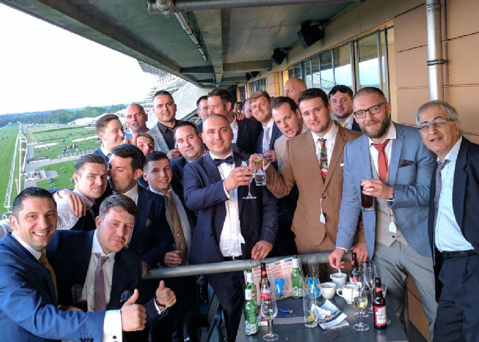 Middlesex team at the races