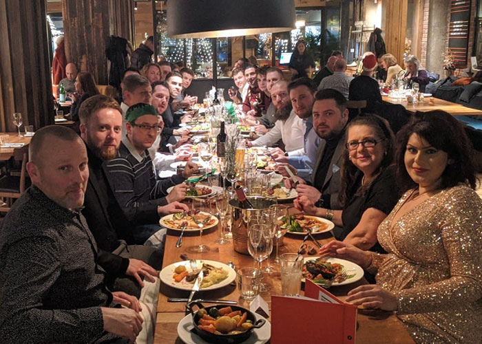 Middlesex team Christmas Party